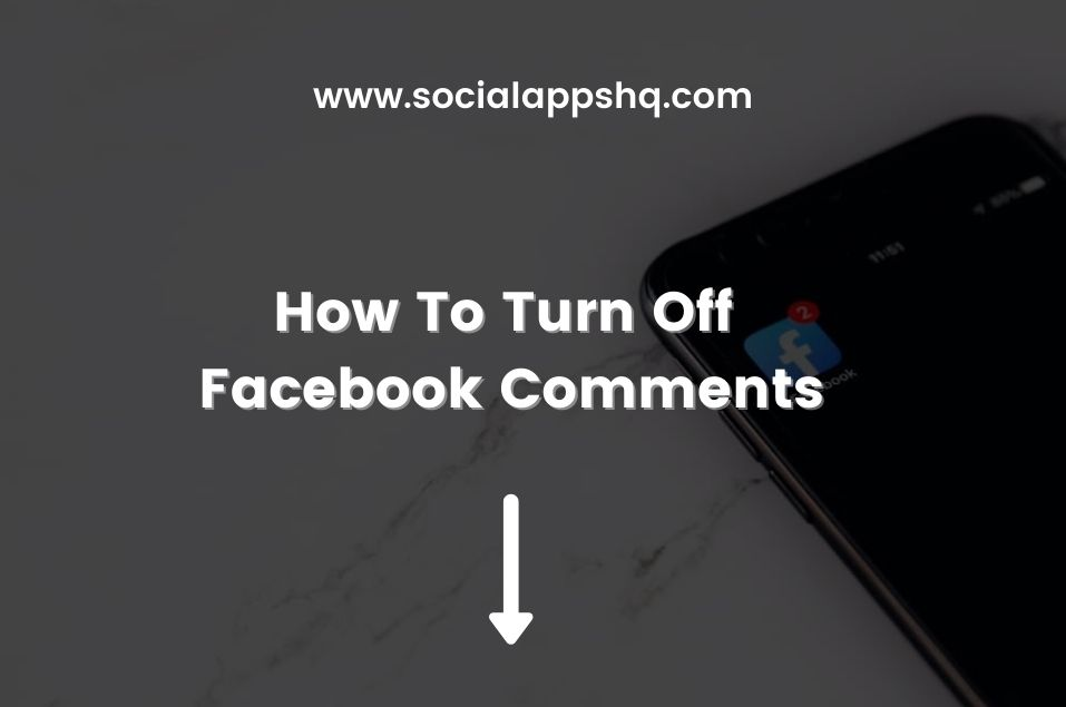 How To Turn Off Facebook Comments