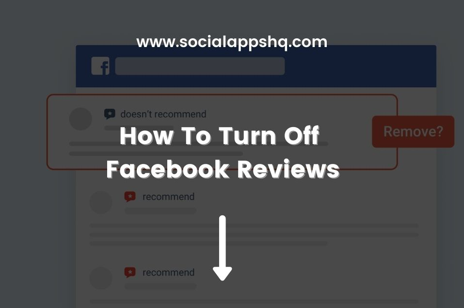 How To Turn Off Facebook Reviews
