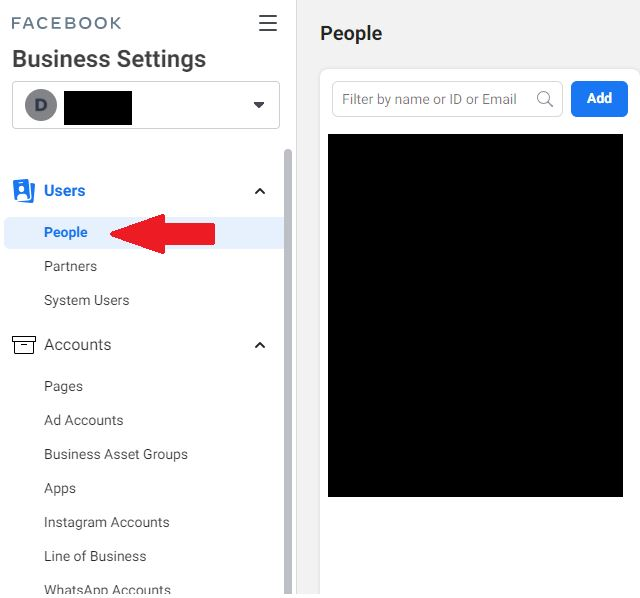 users access to business manager