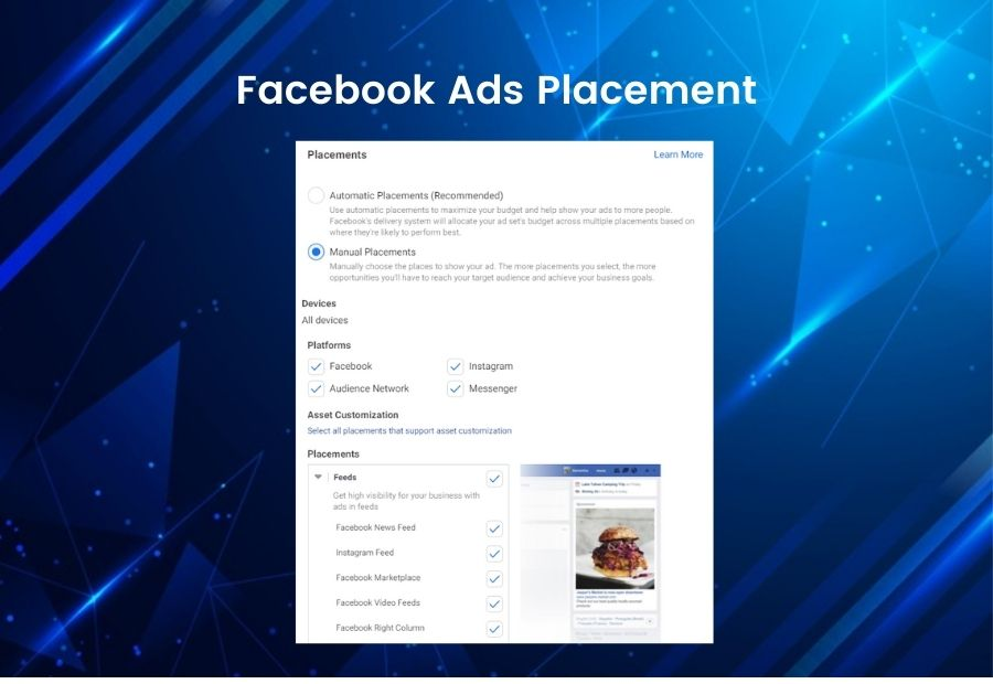 Facebook Ads Placement