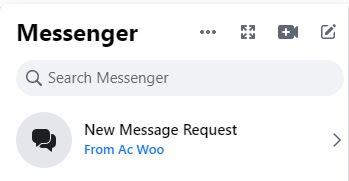 Facebook Message Request
