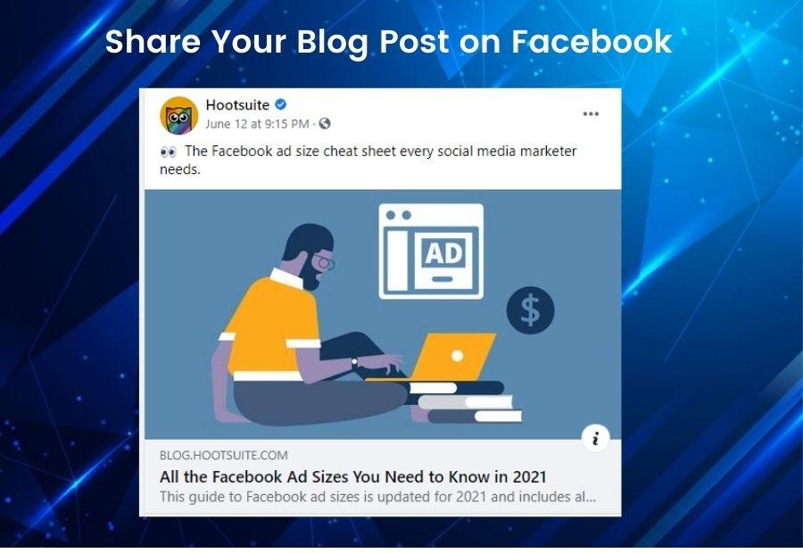 Share Blog Post on Facebook