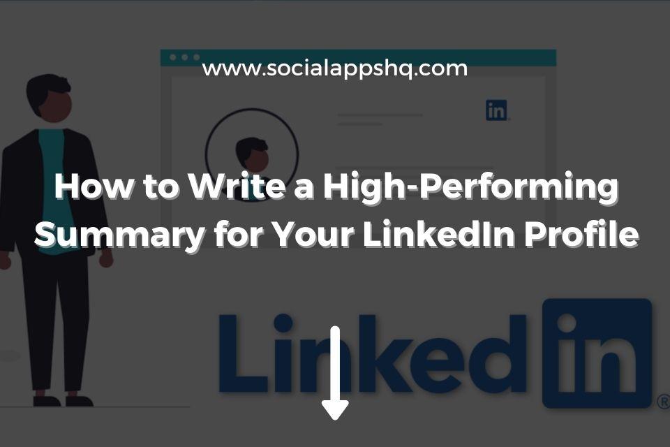 Summary for LinkedIn Profile